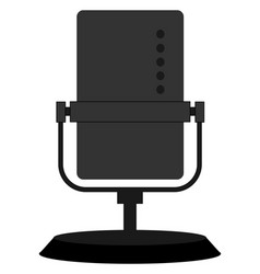 black microphone on white background vector image