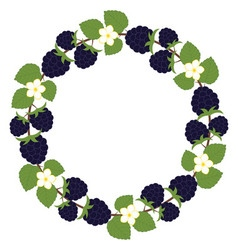 Blackberry Wreath vector