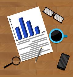 Business financial flowchart vector