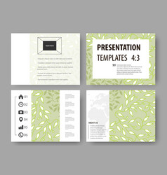 Business templates presentation slides easy vector