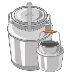 Can and flask vector