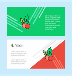 cherries abstract corporate business banner vector image
