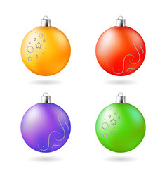 christmas decoration orange purple green red vector image