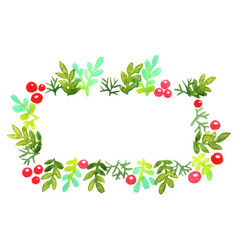 Christmas ornament wreath round banner vector