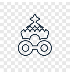 Circus wagon concept linear icon isolated on vector