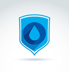 Clear water defending conceptual symbol icon with vector