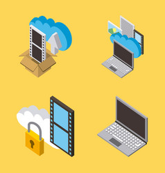 cloud computing storage vector image