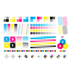 Cmyk marks colorful bars for color divices vector