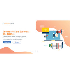 communication business and finance vector image
