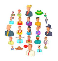 Companion icons set cartoon style vector