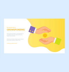 crowdfunding app keeping cash or payment vector image