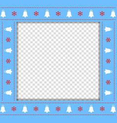 cute christmas or new year blue border with xmas vector image