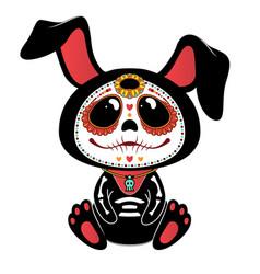 day dead dia de los muertos style bunny vector image