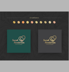 elegant luxury brand logo design template vector image