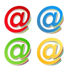 Email Symbols vector image