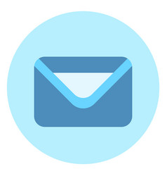 Envelope icon mail post letter button on blue vector