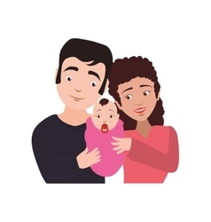 Family baby couple parents mothers father icon vector