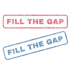 Fill the gap textile stamps vector