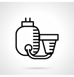 Filtration system black line icon vector