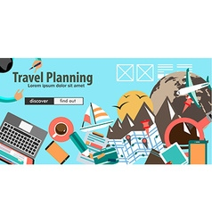 flat design concept for travel organization vector image