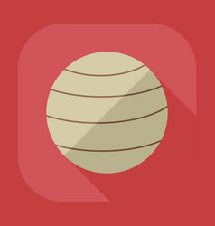 Flat modern design with shadow icon ball vector