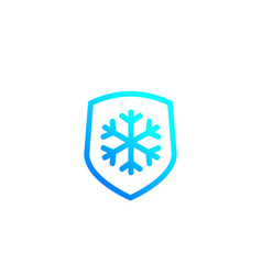 Frost resistant resistance icon vector