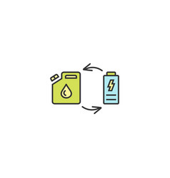 Fuel replacement icon outline linear editable vector