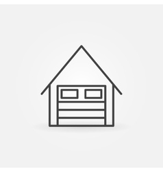Garage linear icon vector image