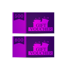 gift voucher with gift boxes in the amount of 500 vector image