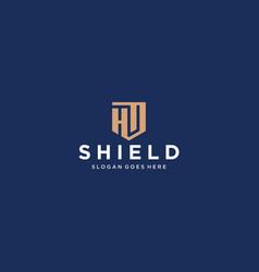 Hd letter shield icon vector