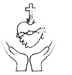 holy sacred heart vector image
