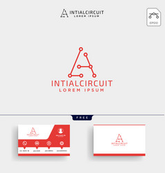 initial a connecting logo template and business vector image