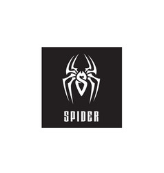 Initial letter s spider man insect arthropod logo vector