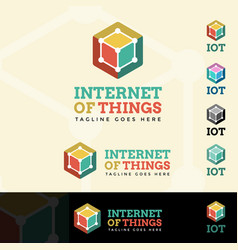 internet of things logotype vector image vector image