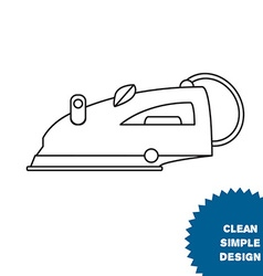 Isolated steam iron icon vector