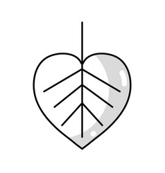 line natural leaf symbol to conservation the vector image