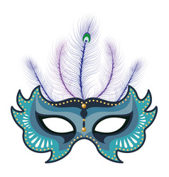 mask with feather vector image