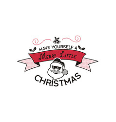 merry christmas season graphic print t shirt vector image