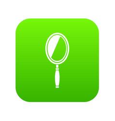 mirror icon digital green vector image