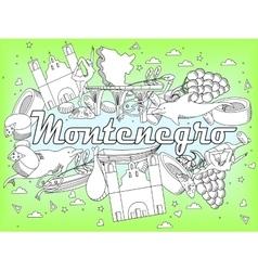 Montenegro coloring book vector