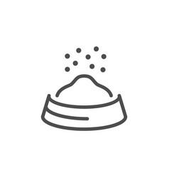 pet food line icon vector image