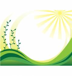 plant spring ornament vector image