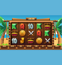 Playing field slots game for game user interface vector