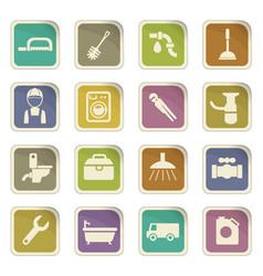 Plumbing service icon set vector