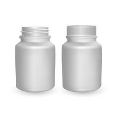realistic plastic bottle mock up template vector image