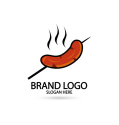 Sausage restaurant logo icon for your brand and vector