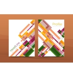 Set of modern geometric business annual report vector image