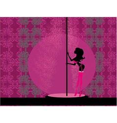 Sexy female pole dancing vector