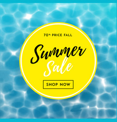 summer sale poster for discount shopping design vector image