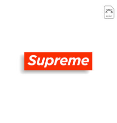 supreme design t shirt print social media blog vector image